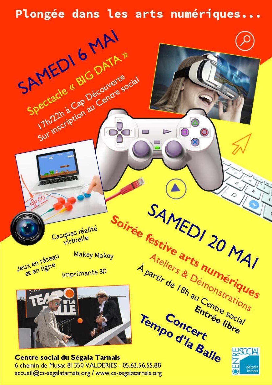 Pitule&Bidouille sera présent à Valdériès pour la soirée organisée par le centre social autour des arts numériques